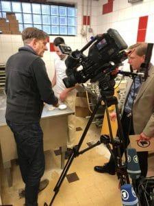 La télévision Allemande vient filmer la boulangerie